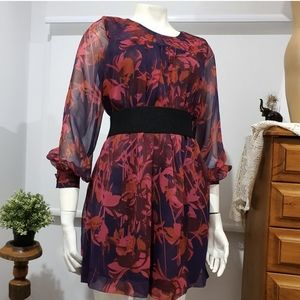 H&M purple and red tunic dress. SIZE 40